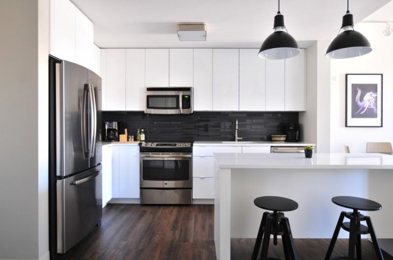 White cabinet modern kitchen