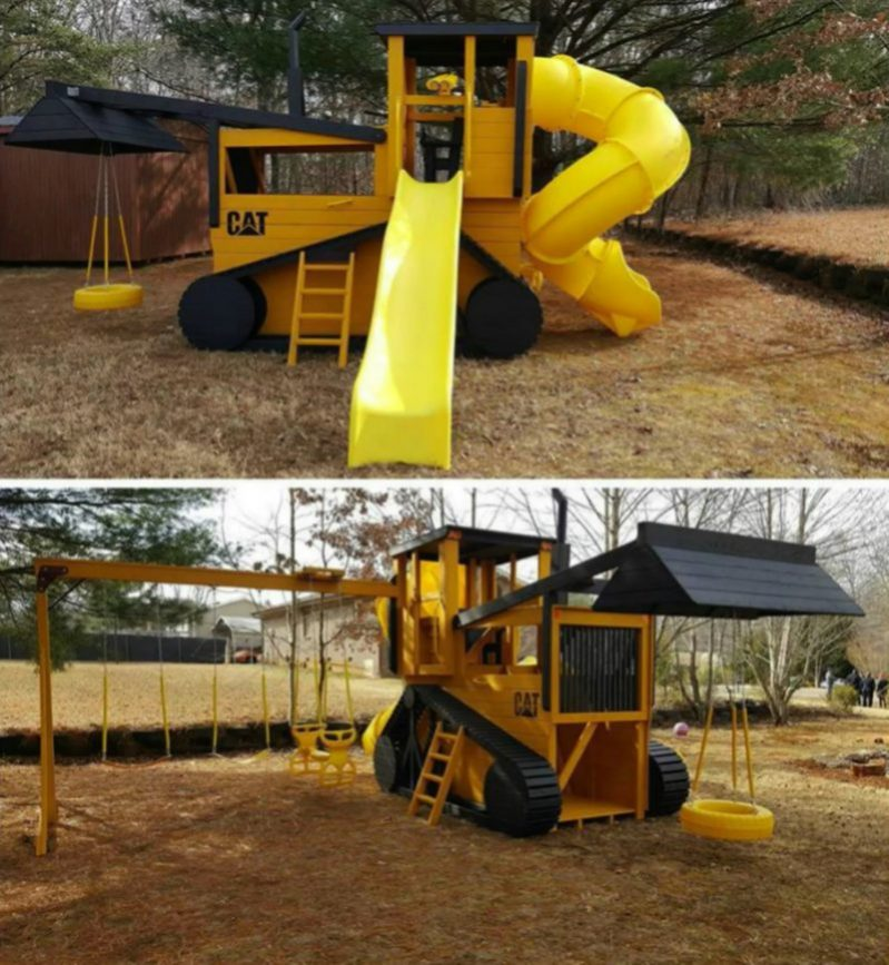 Bulldozer Playground e1503261420480 - Childrens' Outdoor Play Equipment