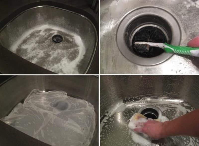sink cleaning1 800 min - 23 DIY Ideas To Clean Up Your Home