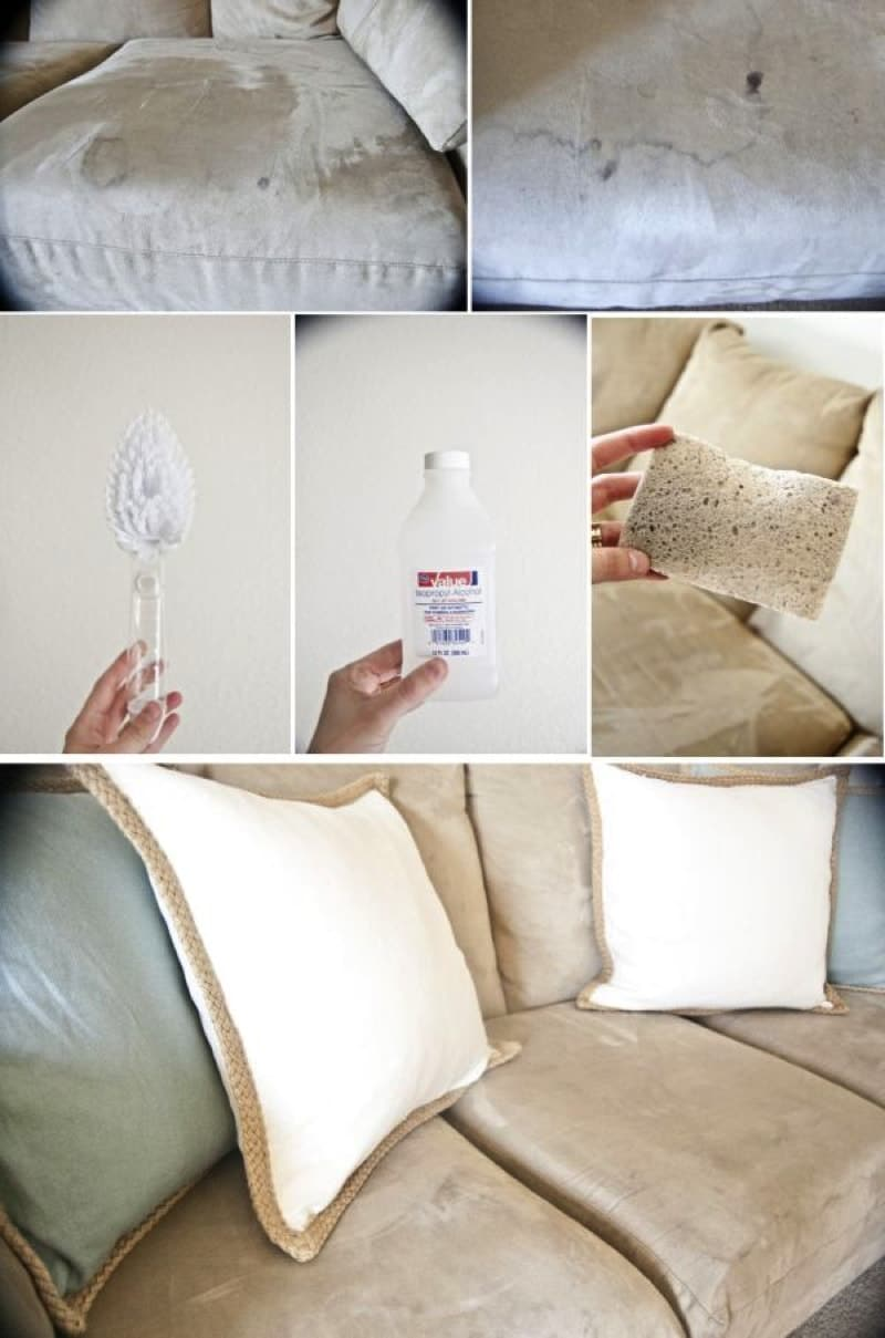 sofa cleaning tips 800 min - 23 DIY Ideas To Clean Up Your Home