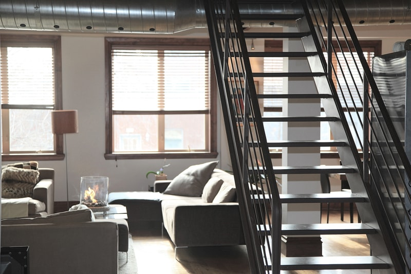 stairs home loft lifestyle - Living Room Decorating Ideas