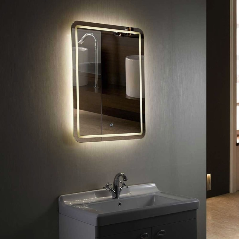 illuminated bathroom mirrors led illuminated bathroom mirrors 18862