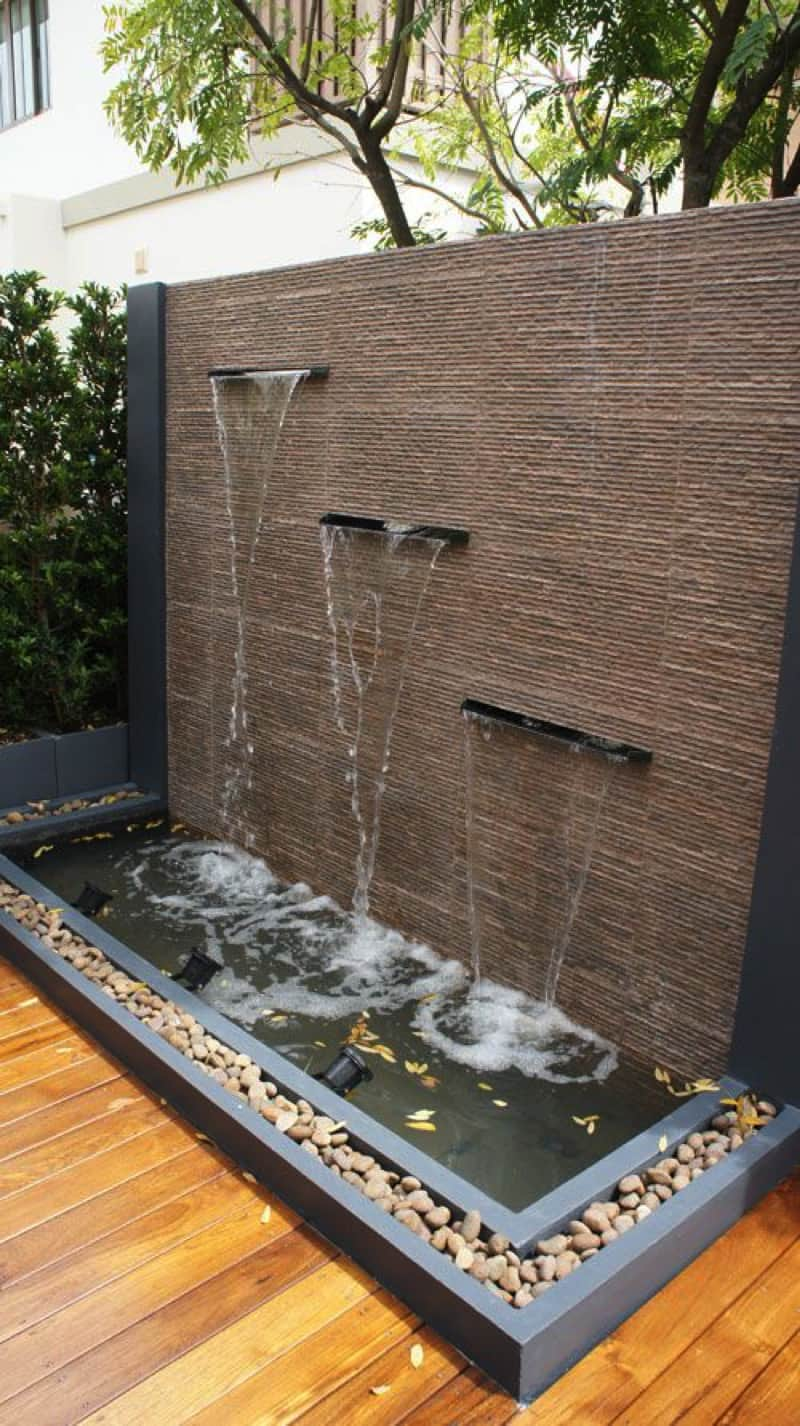 Outdoor Fountains And Water Features on Backyard Feature Walls id=67838